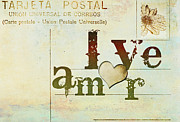 Postcard Mixed Media - Universal Love Amor Universal by Anahi DeCanio