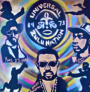 Stencil Art Paintings - Universal Zulu 1 by Tony B Conscious