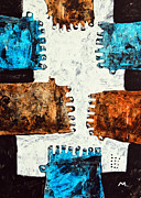 Outsider Art Painting Prints - Universi No. 3 Print by Mark M  Mellon