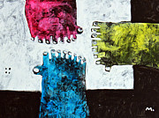 Hands Mixed Media Metal Prints - Universi No. 9 Metal Print by Mark M  Mellon