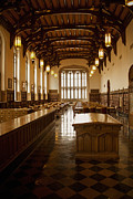Library Prints - University Library Print by Andrew Soundarajan