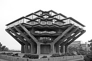 Ocean Images Framed Prints - University of California San Diego Geisel Library Framed Print by University Icons