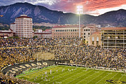 Stadiums Framed Prints - University of Colorado Boulder Go Buffs Framed Print by James Bo Insogna