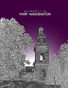 Fraternity Digital Art Prints - University of Mary Washington Print by Myke Huynh