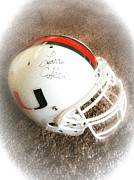 Signed Originals - University of Miami Football by Marian Palucci