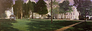 Student Paintings - University of South Carolina Horseshoe 1984 by Blue Sky