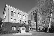 Universities Tapestries Textiles Prints - University of Southern California Administration Building  Print by University Icons