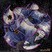 Intergalactic Space Painting Metal Prints - Univirus Metal Print by Jeffrey S Perrine