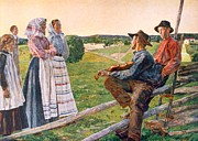 Wooden Fence Prints - Unknown Print by Anders Leonard Zorn