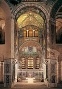 Byzantine Framed Prints - Unknown Artist, Basilica Of San Vitale Framed Print by Everett