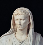 Statue Portrait Photos - Unknown Artist, Statue Of Augustus by Everett