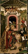Shepherds Framed Prints - Unknown, Crib Altarpiece, 15th Century Framed Print by Everett