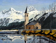Landscape With Mountains Originals - Unknown place of worship by Al Hunter