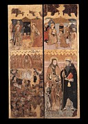 Adoration Prints - Unknown, Retablo Of The Last Judgment Print by Everett