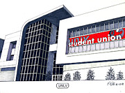Universities Buildings Images Mixed Media - Unlv by Frederic Kohli