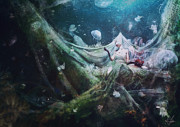 Underwater Digital Art Prints - Unravel Print by Mario Sanchez Nevado