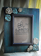 Frame Ceramics Framed Prints - UnTeal Next Time Framed Print by Amanda  Sanford