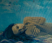 Sand Dunes Paintings - Until Forever by Dorina  Costras