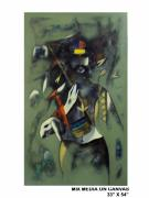 Goat Painting Originals - Untitled - 16 by Ramesh Thorat