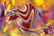 Sweeps Digital Art - Untitled 9th in Color Abstract by Roy Erickson