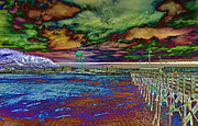 Pier Digital Art - Untitled by Betsy A Cutler East Coast Barrier Islands