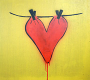 Lovesick Prints - Untitled Heart Print by Bela Manson