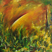 Sun Rays Painting Prints - Untitled I Print by Aazam Irilian