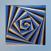 Paper Folding Art - Untitled Iris Folding by Ron Davidson
