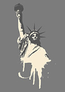 Statue Of Liberty Digital Art Metal Prints - Untitled No.39 Metal Print by Caio Caldas