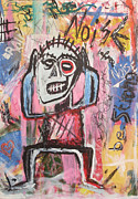 Neo Expressionism Paintings - Untitled Noise by Bela Manson