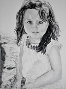 Featured Drawings Framed Prints - Untitled portrait Framed Print by Kayla  Thompson