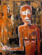 Neo Expressionism Paintings - Untitled Proletariat by Karl Haglund