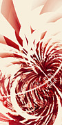 High Contrast Prints - Untitled Red Print by Scott Norris