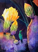 Hummingbird Painting Prints - Untitled Print by Robert Hooper