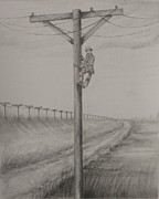 Pole Drawings - Untitled by Sheila Banga