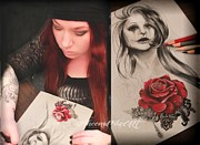 Red Rose Pastels - Unworthy - Work in Progree by Sheena Pike