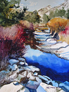 Teton Paintings - Up a Creek by Kris Parins