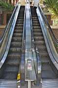 Escalator Prints - Up and Down Print by David Davies