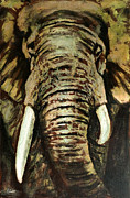 Tusk Paintings - Up close and personal by John Silver