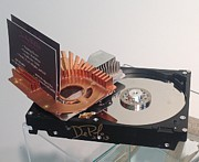 Hard Sculptures - Up cycle Computer  Business Card Holder  by JoAnn DePolo