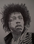 Jimmy Hendrix Paintings - Up From The Skies by Stuart Engel