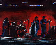 Bands On Stage Framed Prints - Up On The Stage Framed Print by Alys Caviness-Gober