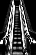 Escalator Framed Prints - Up or Down Framed Print by Mark Alder