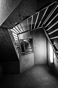 Stairs Metal Prints - Up or Down Staircase Metal Print by Everet Regal