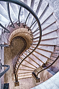 Staircase Railing Prints - Up or Down? Print by Tom Mc Nemar