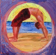 Yoga Pose Paintings - Up Rise by Valerie Twomey