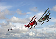 Biplane Prints - Up Sun Print by Pat Speirs