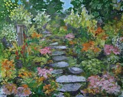 30 X 24 Prints - Up The Garden Path Print by Anne F Marshall