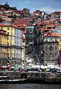 Crowds  Prints - Up the Hill in Porto Print by John Rizzuto