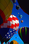 Balloon Fiesta Framed Prints - Up Up and Away 2 Framed Print by ABeautifulSky  Photography